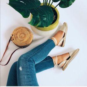 Shoes - 🆕✨Abby Cream Canvas Lace Up Espadrilles